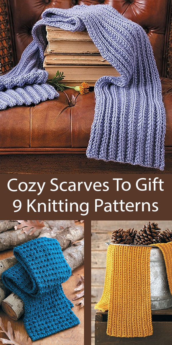 Cozy Scarves To Gift 9 Beginner Knitting Patterns