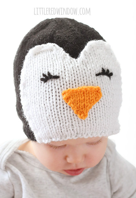 Free Knitting Pattern for Cozy Penguin Hat