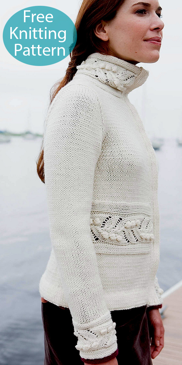 Free Knitting Pattern for Cranston Coat