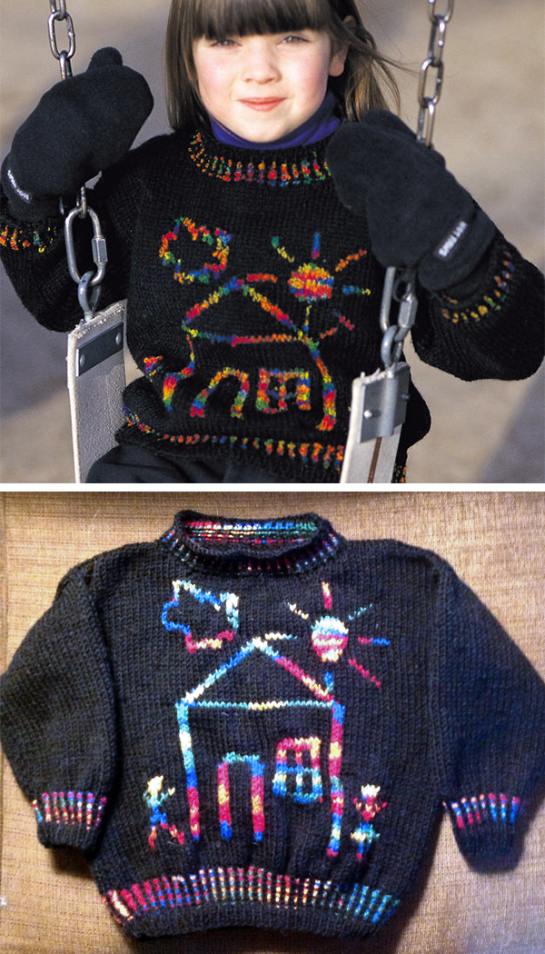 Free knitting pattern for Crayon Crewneck