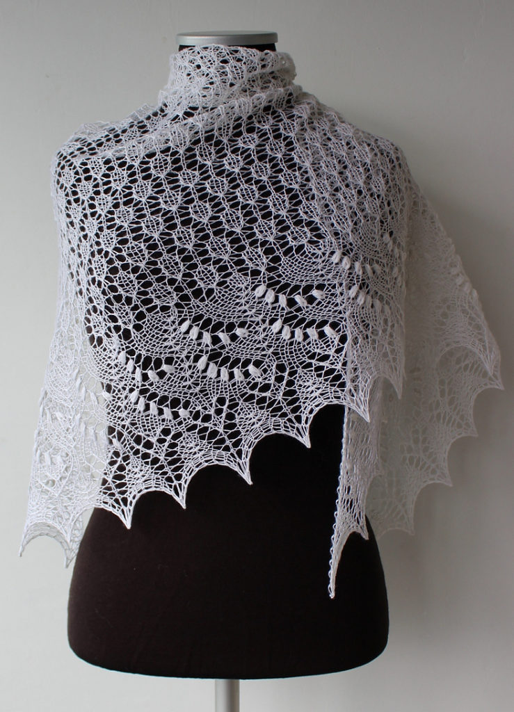 Free Knitting Pattern for Crescent Swallowtail Shawl