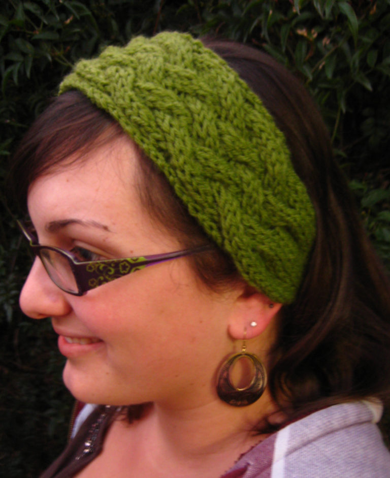 Free Knitting Pattern for Criss Cross Cable Headband