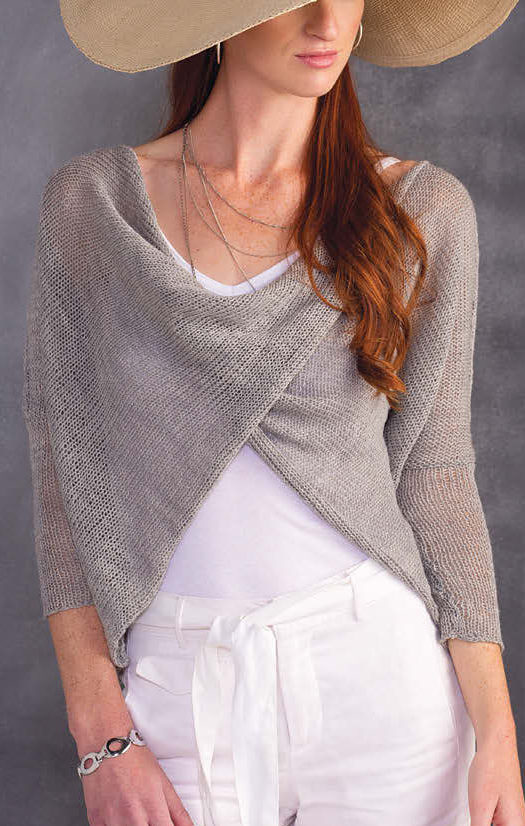 Knitting Pattern for Crisscross Meshy Top