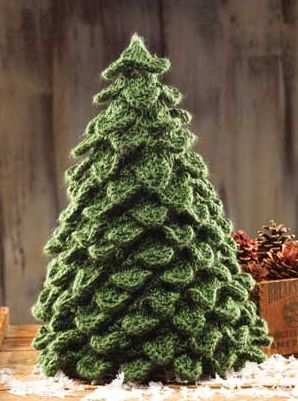 Knitting Pattern for Crocodile Stitch Tree