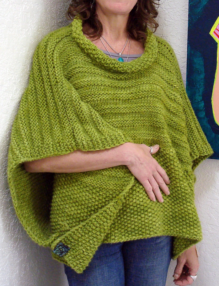 Free Knitting Pattern for Easy Cropped Overlay