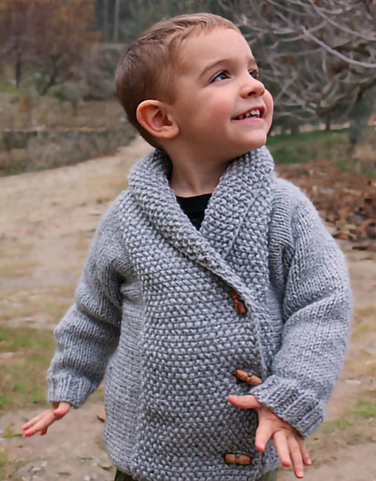 Free Knitting Pattern for Crossed Jacket