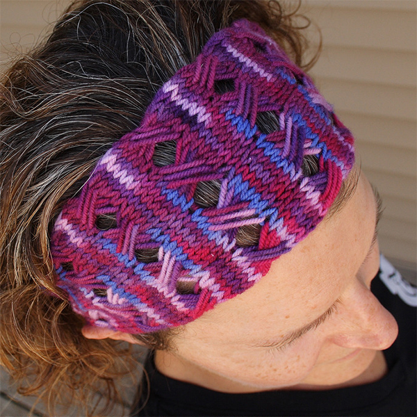 Free Knitting Pattern for Crossover Stitch Head Wrap