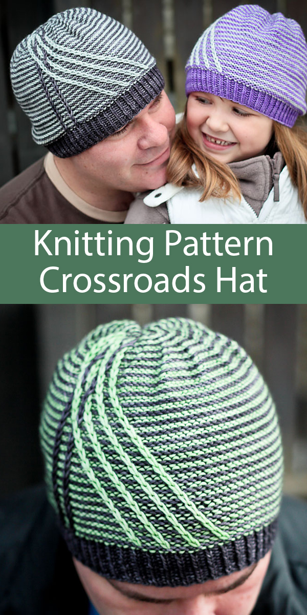 Knitting Pattern for Crossroads Hat for Whole Family