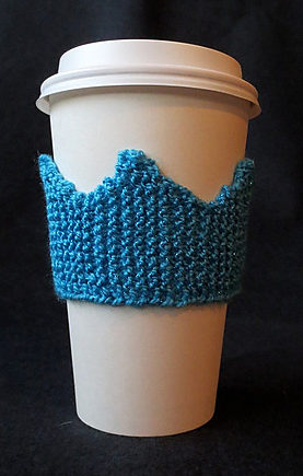 Free Knitting Pattern for Crown Cup Cozy