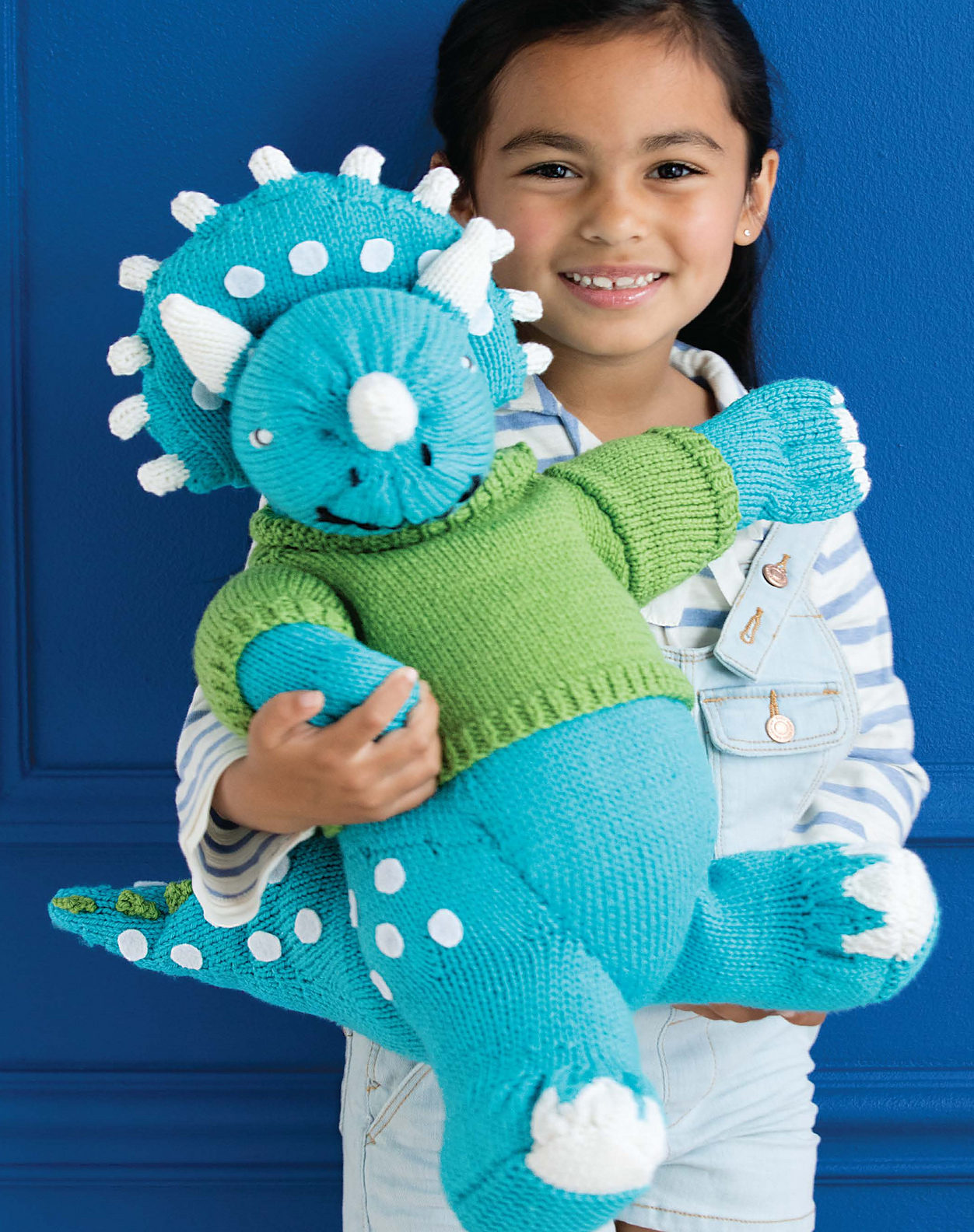 Knitting Pattern for Cuddly Triceratops