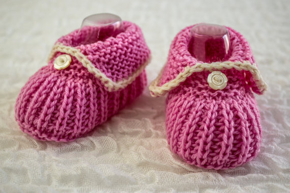 3d1fd69f87d017 Knitting pattern for Cuffed Booties and more baby shoes pattern