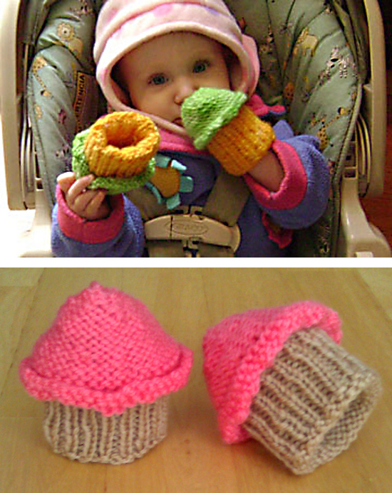 Free Knitting Pattern for Baby Cupcake Hands