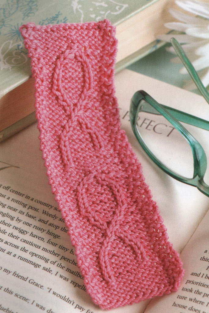 Knitting Pattern for Knit for the Cure Bookmark