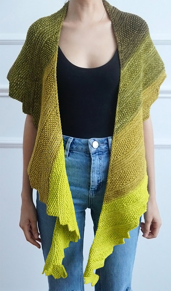 Knitting pattern for Cloris Shawl