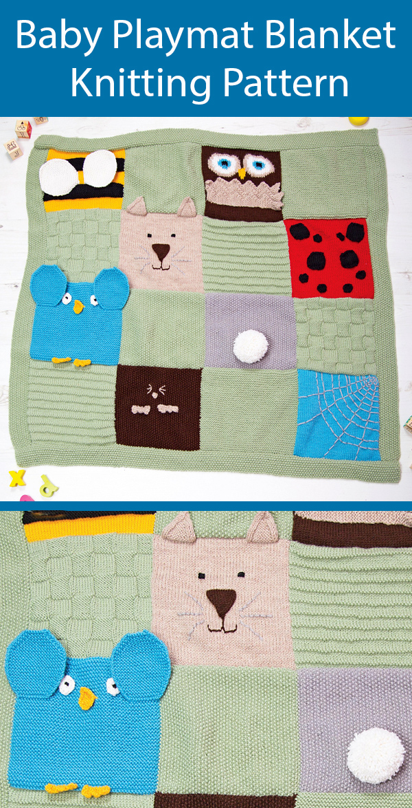 Knitting Pattern for Baby Blanket Playmat