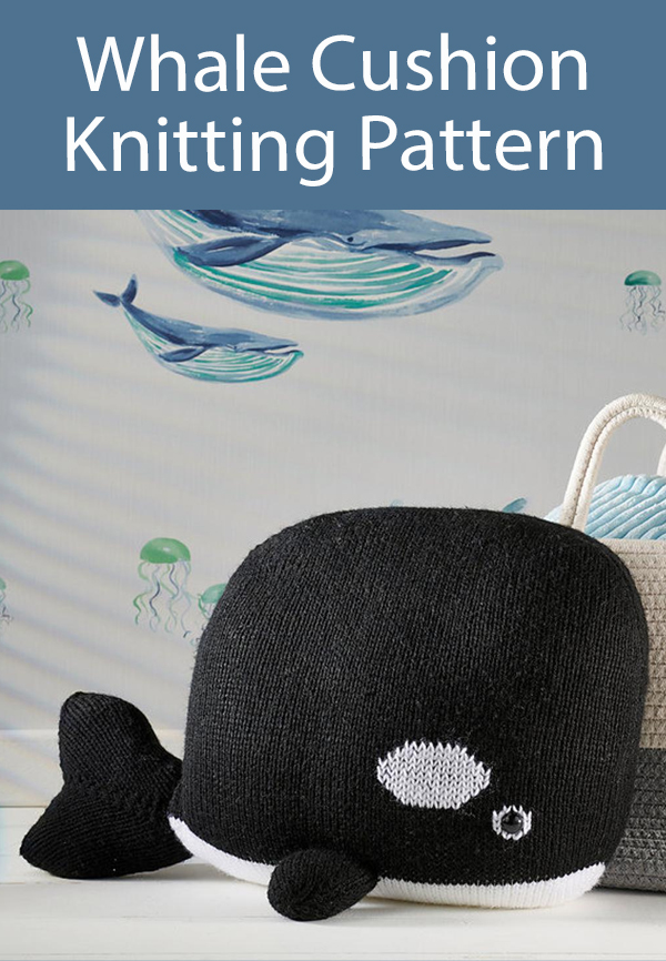 Whale Cushion Knitting Pattern