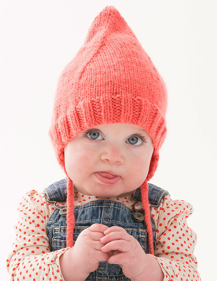 Free Knitting Pattern for Cutie Pointed Hat