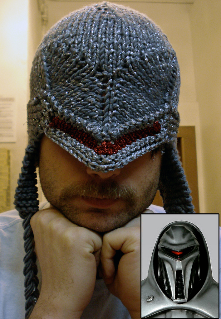 Free Knitting Pattern for Cylon Centurion Hat