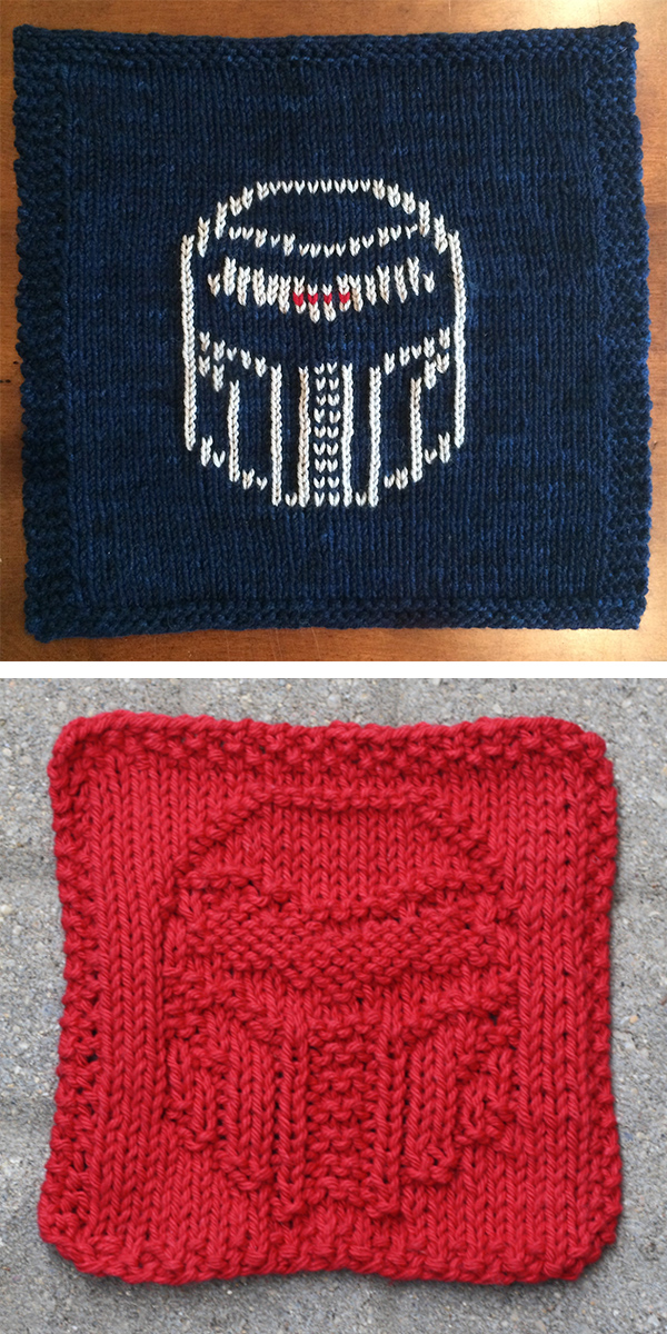 Free knitting pattern for Cylon Cloth