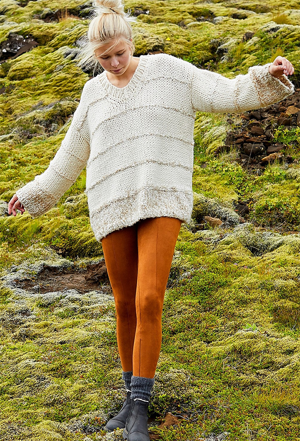 Free Knitting Pattern for Easy Dagny Pullover