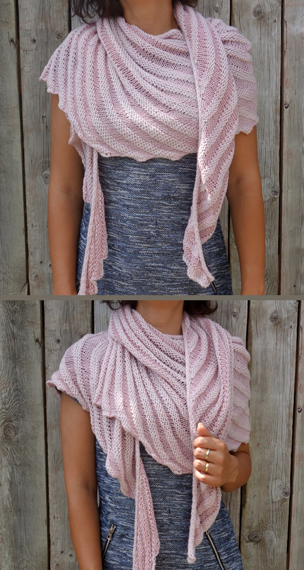 Knitting Pattern for Reversible Dahlia Shawl