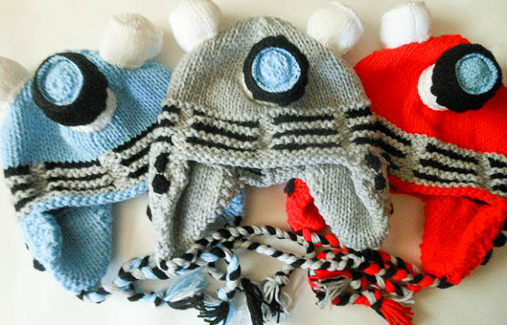 Robot Dalek Inspired Hat Knitting Pattern