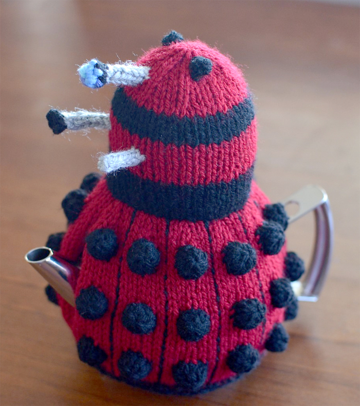 Free Knitting Pattern for Dalek Tea Cosy
