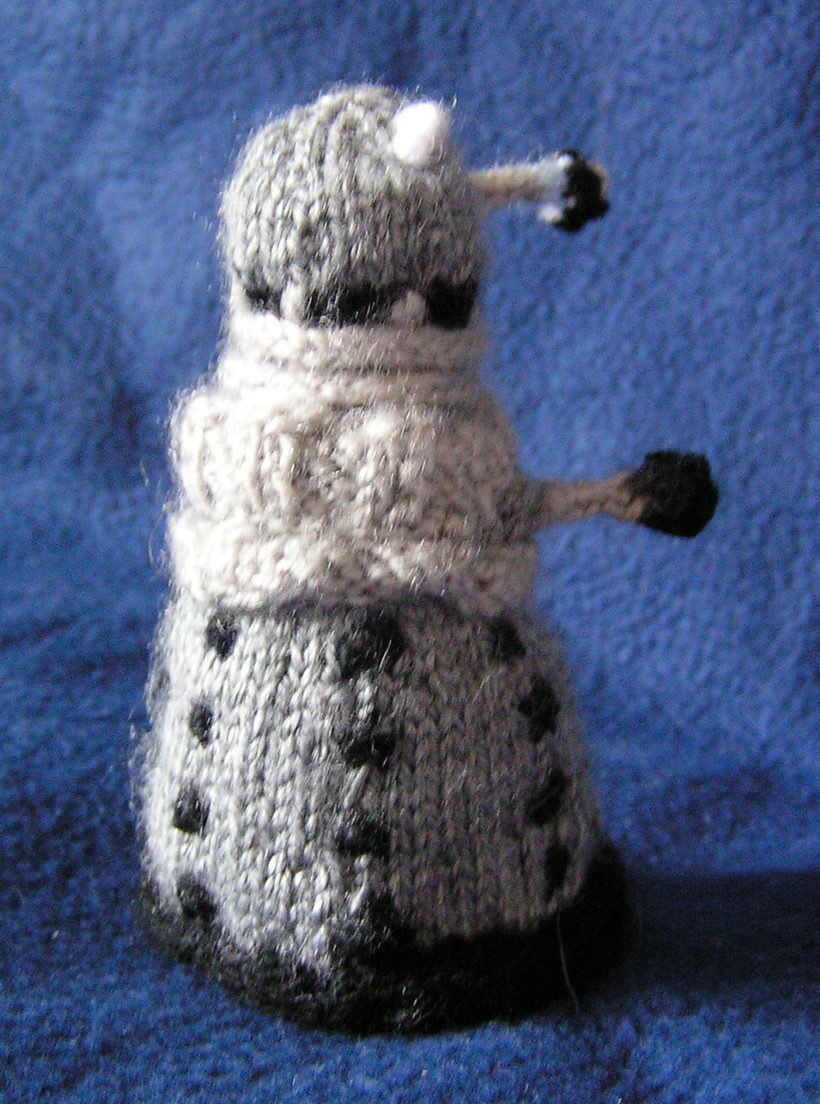 Free Knitting Pattern for Dalek Toy