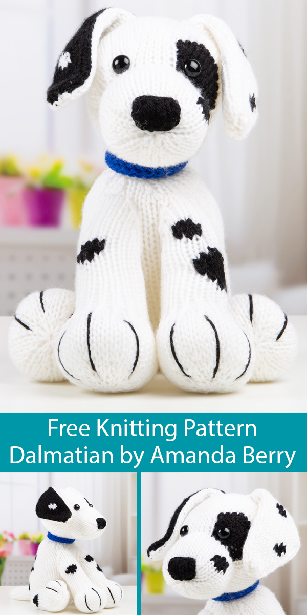 Free Knitting Pattern for Dalmatian by Amanda Berry