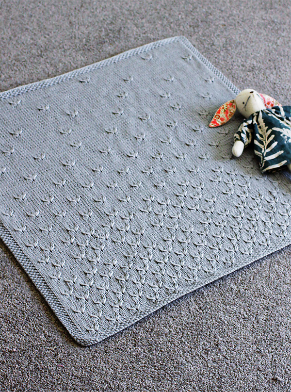 Knitting pattern for Dandelion Baby Blanket