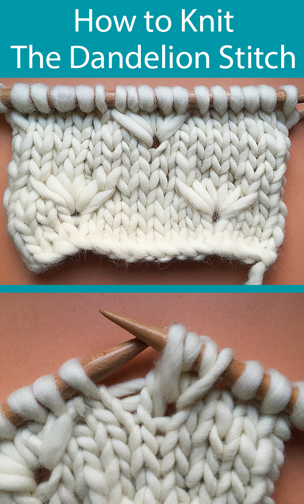 How to Knit the Dandelion Stitch