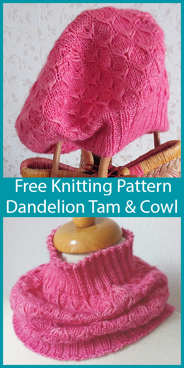 Free Knitting Pattern for Dandelion Fluff Tam and Cowl