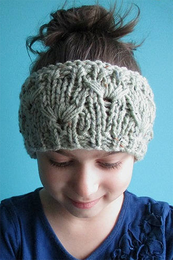 Knitting pattern for Dandelion Stitch Headband
