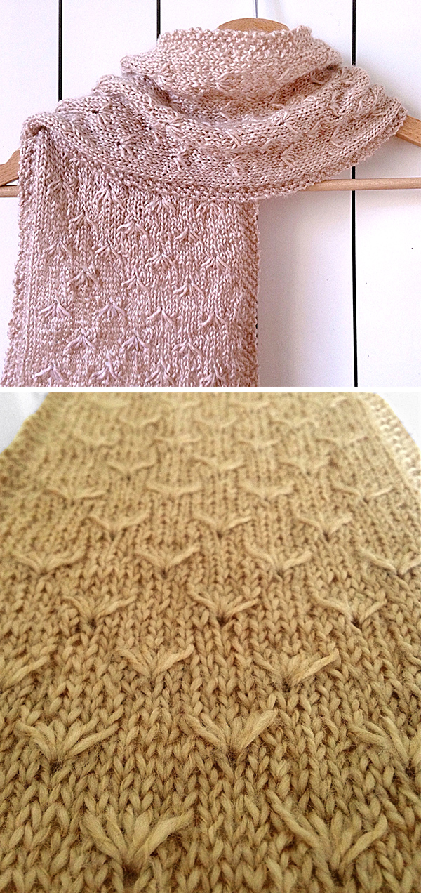 Free Knitting Pattern for Dandelion Scarf