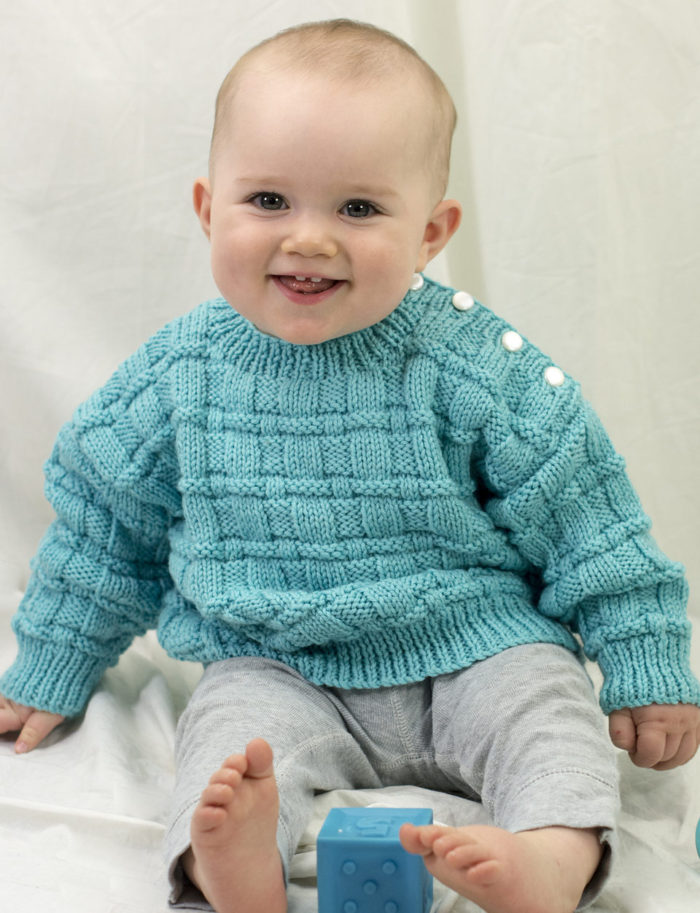 52d6f0bbe Easy-On Pullovers for Babies and Children Knitting Patterns - In the ...