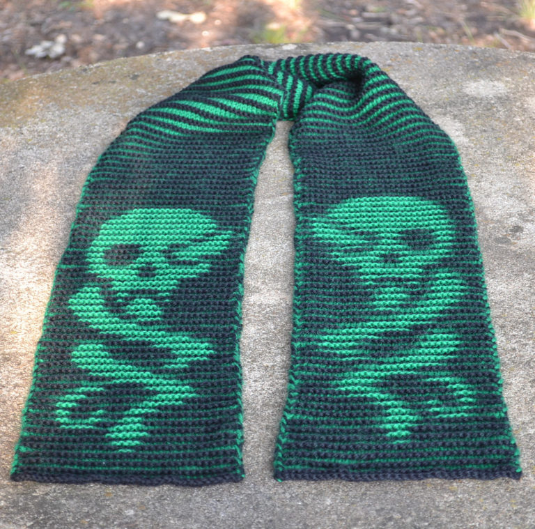 Free Knitting Pattern for Dark Mark Scarf