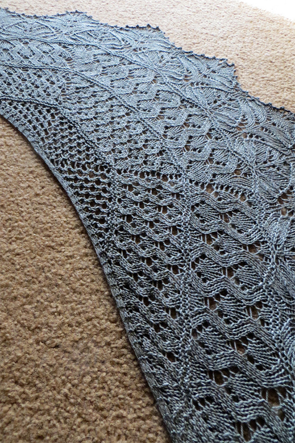 Knitting Pattern for Darwin Shawl