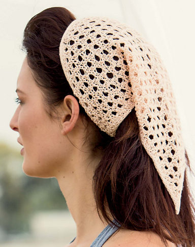 Knitting Pattern for Datura Kerchief