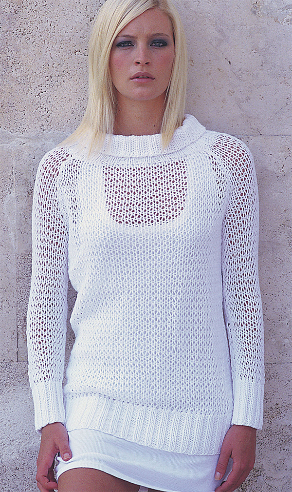Free Knitting Pattern for Dawn Pullover