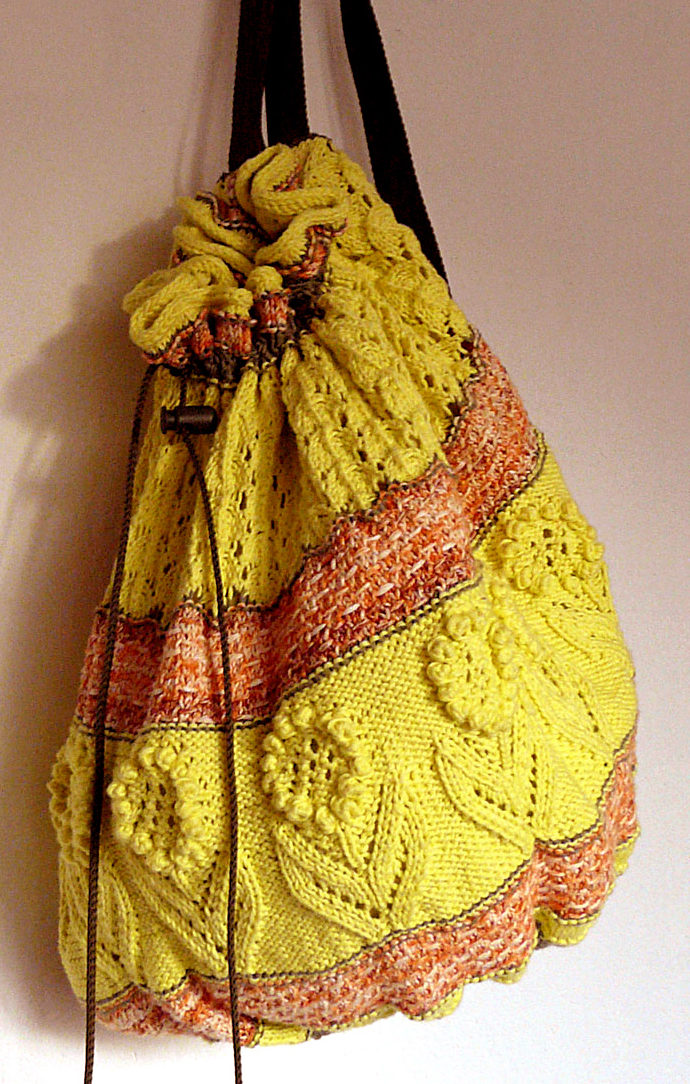 Free Knitting Pattern for Day in the Park Backcpack