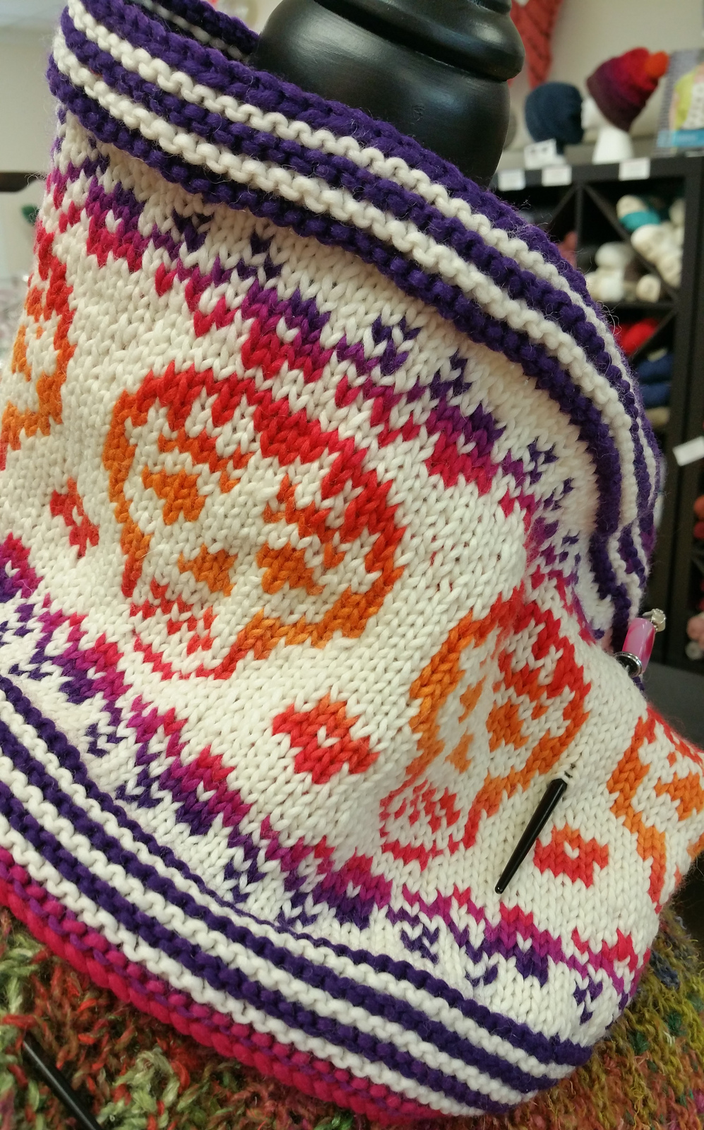Knitting Pattern for Day of the Dead Cowl