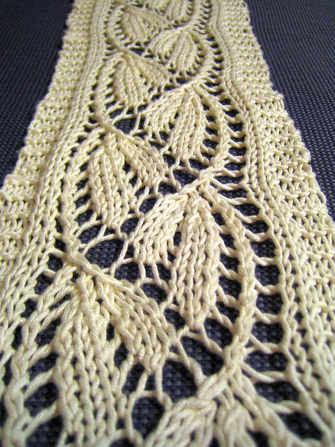 Dayflower Lace Scarf, free on Ravelry