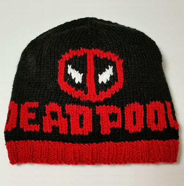Free Knitting Pattern for Deadpool Hat