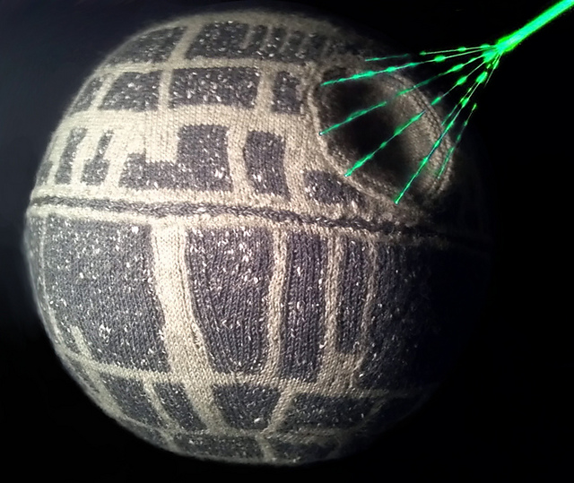 Free knitting pattern for Death Star toy and more Star Wars knitting patterns