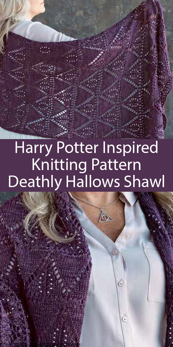 Knitting Pattern for The Deathly Hallows Shawl