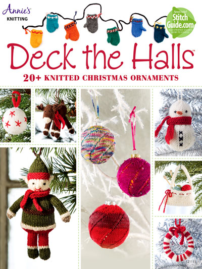 Deck the Halls 20 knitting patterns for Christmas ornaments