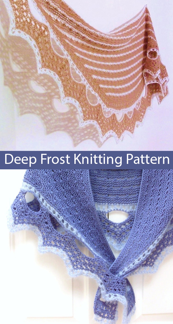 Knitting Pattern for Deep Frost Shawl