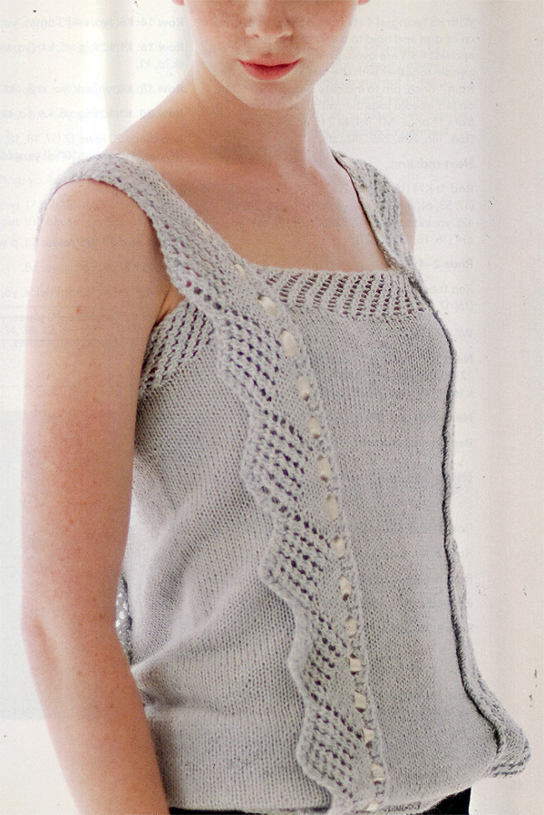 Knitting Pattern for Delysia Camisole