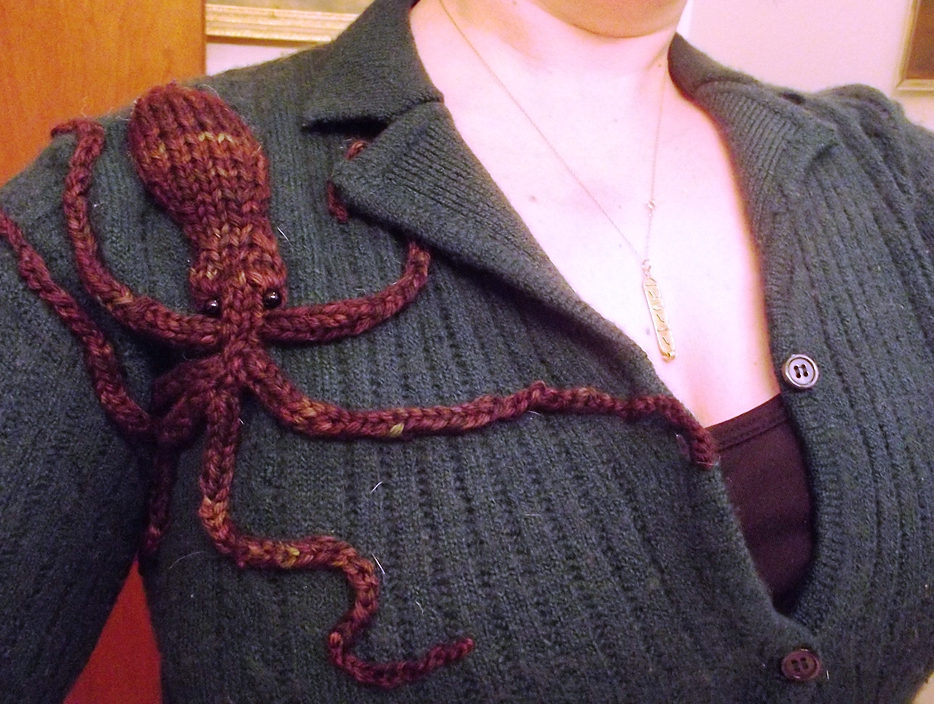 Free Knitting Pattern for Demi Octopus
