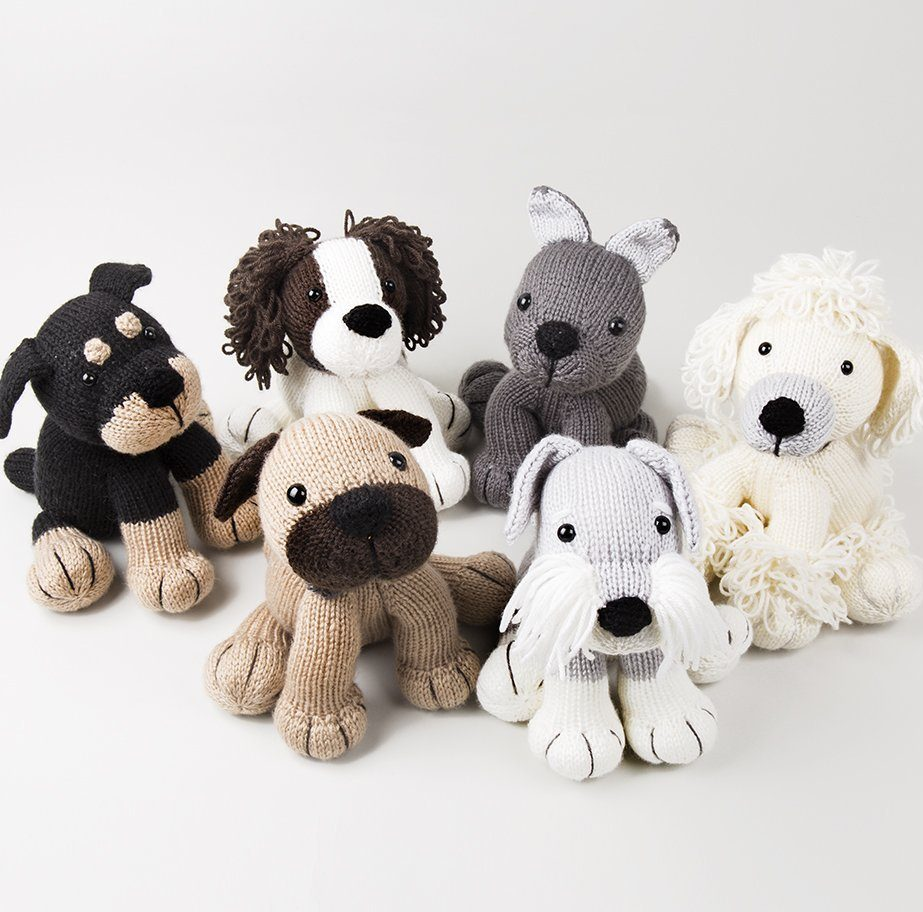 Knitting Pattern for Dog Softies by Amanda Berry